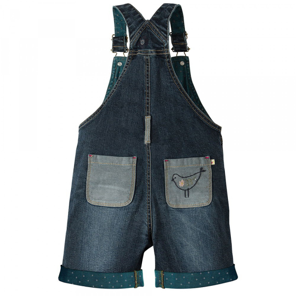SALOPETA BLUGI SCURTI LIGHT WASH DENIM 1