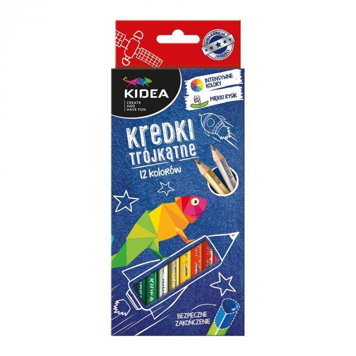 Set 12 creioane colorate Kidea [0]