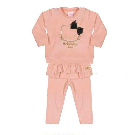 SET BLUZITA CU PANTALONI BABIES HELLO KITTY 0