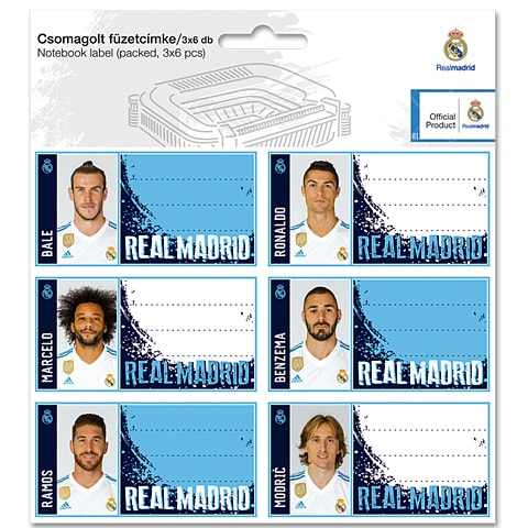 SET ETICHETE REAL MADRID 1