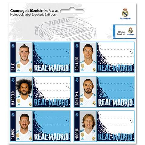 SET ETICHETE REAL MADRID 1