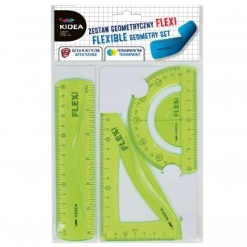 Set flexi geometrie 3 elemente pentru scoala, Kidea 0