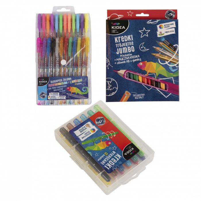 Set rechizite, pixuri si creioane, Kidea 0