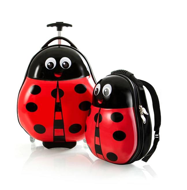 set-troler-calatorie-si-ghiozdan-copii-ladybug-buburuza 0