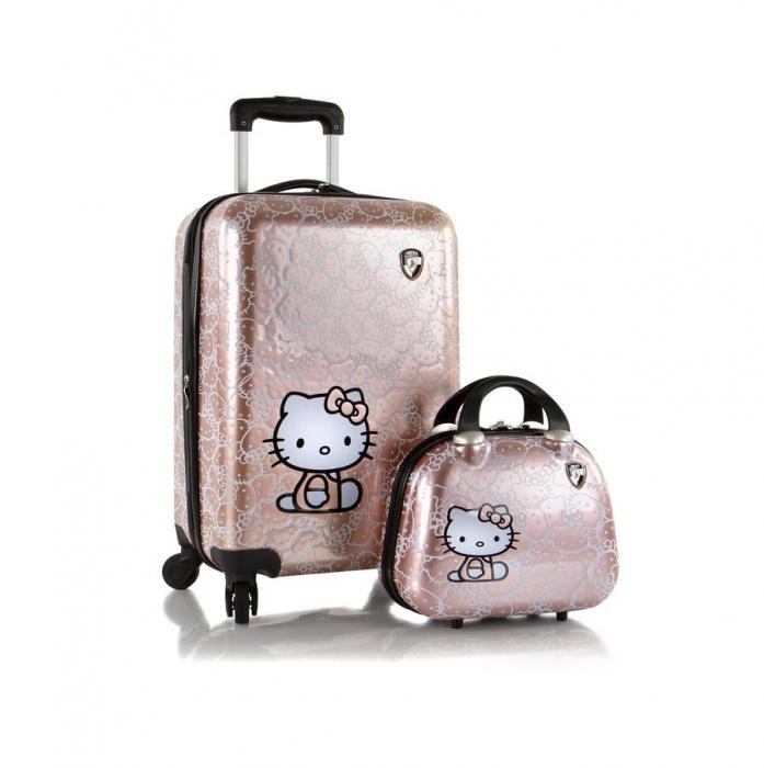 Set troler si geanta frumusete,Hello Kitty,Heys 0