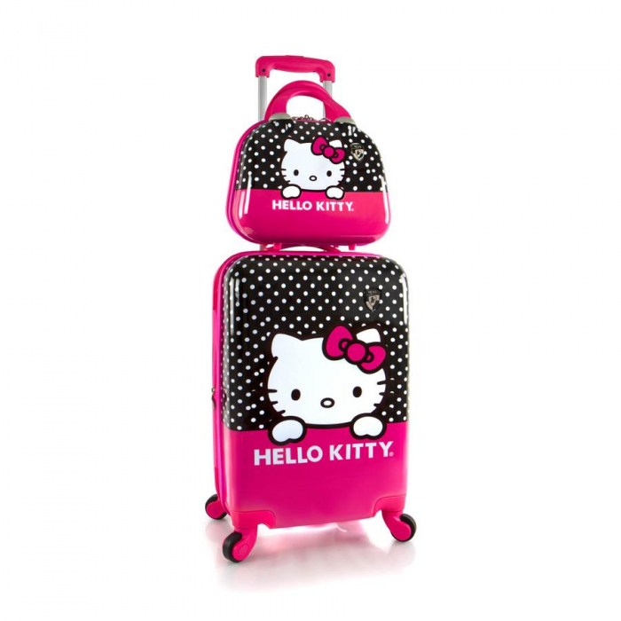 Set troler si geanta frumusete,Roz,Hello Kitty,Heys [0]