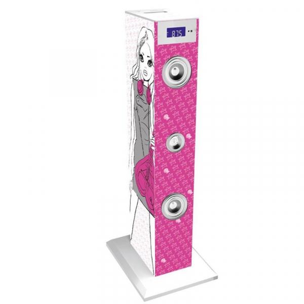Sistem karaoke copii Buetooth cu microfon Rock Girl, 2x10 W, 85 cm, Bigben 1