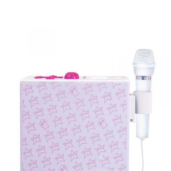 Sistem karaoke copii Buetooth cu microfon Rock Girl, 2x10 W, 85 cm, Bigben 2