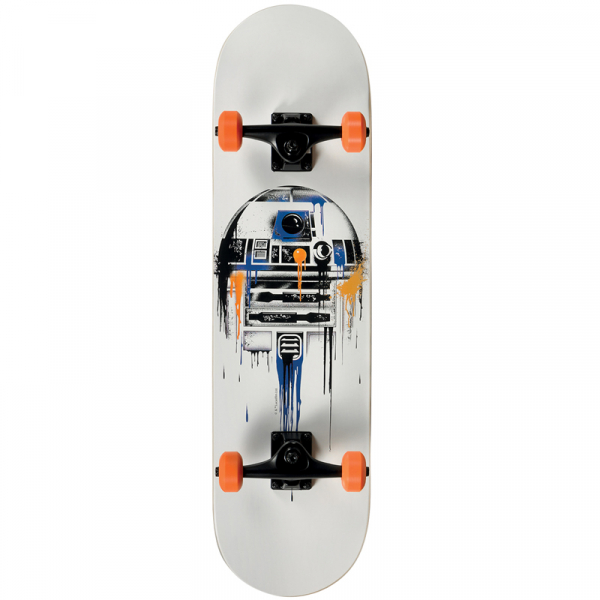 SKATEBOARD FADING R2D2 STAR WARS     0