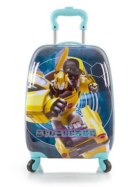Troler-calatorie-ABS-Copii-Heys-Transformers-Albastru-Turcoaz-46-cm 1
