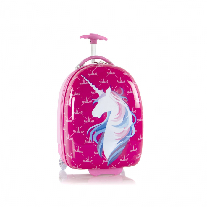 Troler calatorie ABS Copii,Heys,Unicorn,Roz, 46 cm [0]