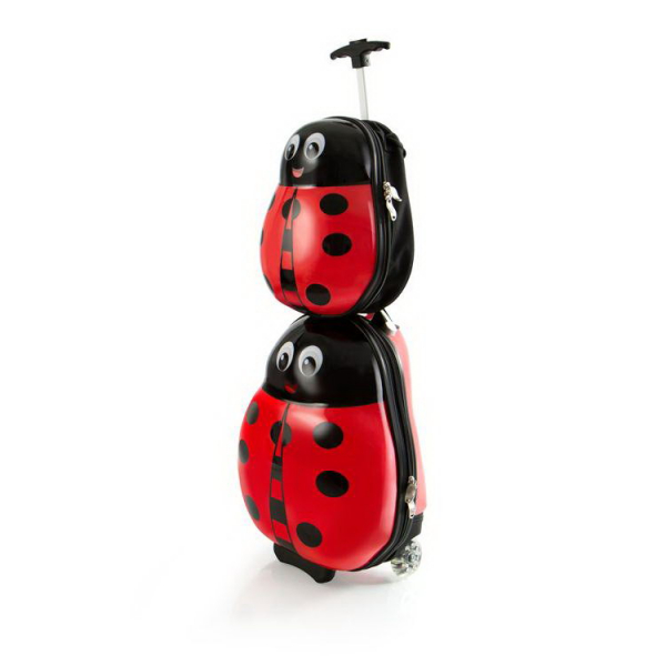 set-troler-calatorie-si-ghiozdan-copii-ladybug-buburuza 3