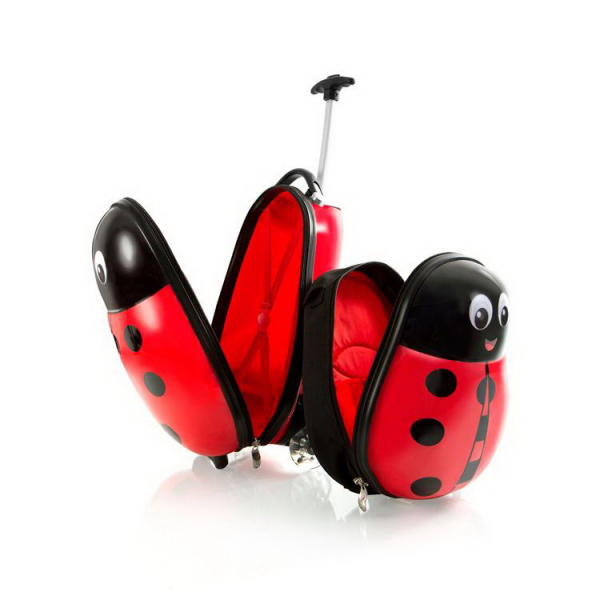 set-troler-calatorie-si-ghiozdan-copii-ladybug-buburuza 1