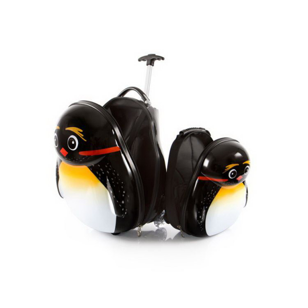 Set-troler-vacanta-ABS-Copii-si-Ghiozdan-Emperor-Pinguin-46-CM-Heys 2