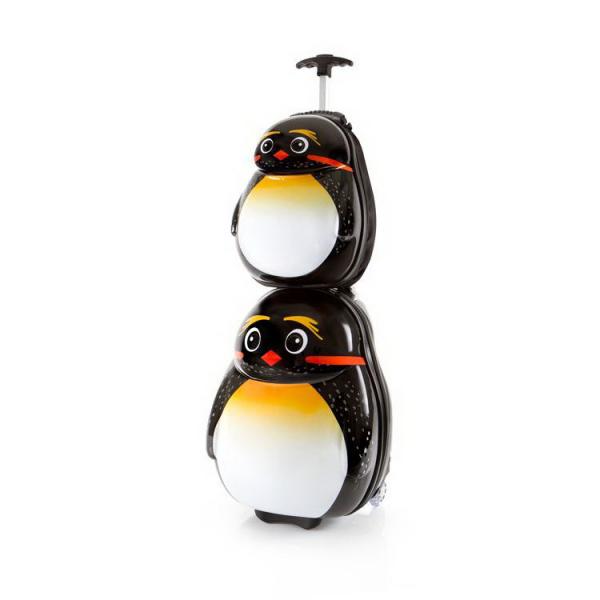 Set-troler-vacanta-ABS-Copii-si-Ghiozdan-Emperor-Pinguin-46-CM-Heys 1