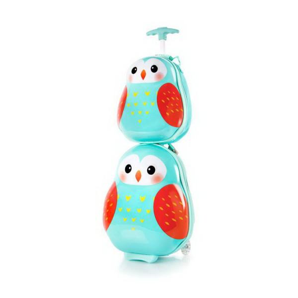 Set-troler-vacanta-ABS-Copii-si-Ghiozdan-Owl-46-cm-Heys 3