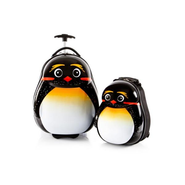 Set-troler-vacanta-ABS-Copii-si-Ghiozdan-Emperor-Pinguin-46-CM-Heys 0