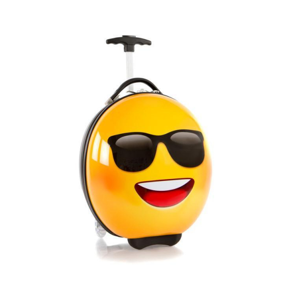 Troler-copii-calatorie-Emoji-Smiley-Face-Sunglasses-41-cm-Heys 0
