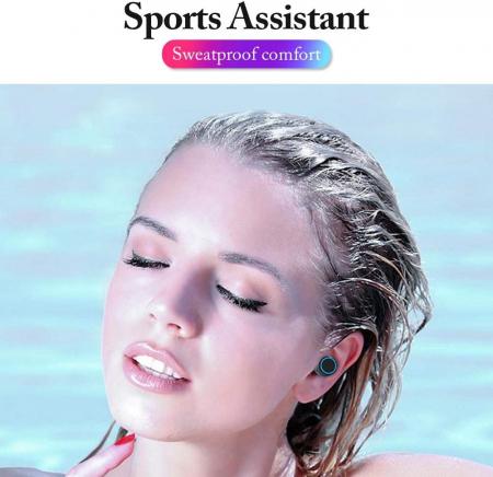 Casti Telefon cu Bluetooth Tinderala M11 cu microfon, Wireless Fara fir, PowerBank 2000 mA, Rezistente la apa, Microfon Incoporat, Compatibilitate Universal, Negru/Metal Black1