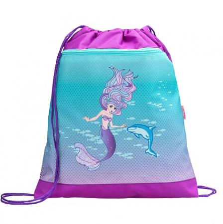 """Set """"Purple Mermaid"""" Ghiozdan Echipat, 2 Penare, Sac Sport scoala3"""