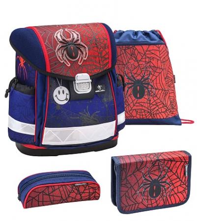 Ghiozdan Spiders Ergonomic echipat cu 2 penare si sac sport0