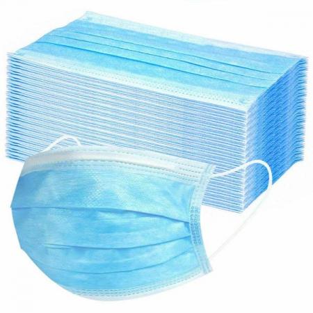 Masca chirurgicala medicala cu elastic, 3 straturi, 50buc/cutie1