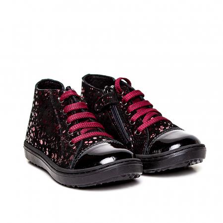 Pantofi primii pasi din piele Rocky Negru Bordo0