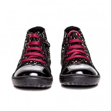 Pantofi primii pasi din piele Rocky Negru Bordo2