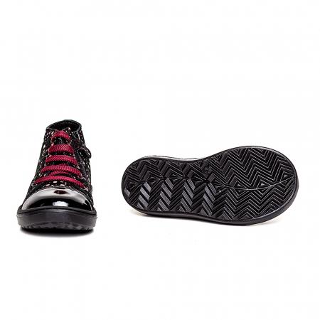 Pantofi primii pasi din piele Rocky Negru Bordo3
