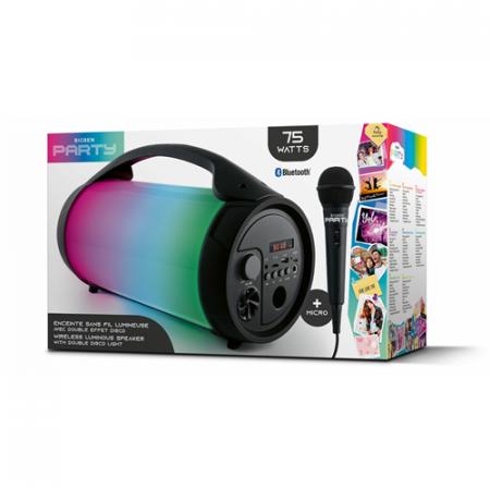 Boxa portabila luminoasa cu microfon Party BT Pro, BigBen, 75W3
