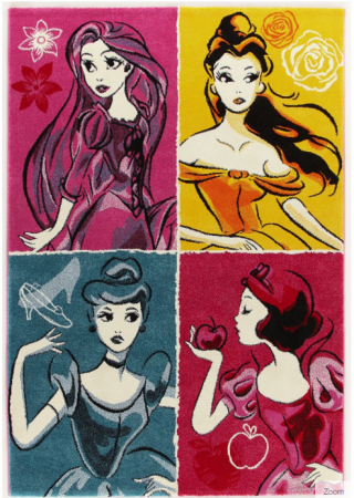 Covor camera copii Premium, Disney Princess , 133x190 cm, Antiderapant0