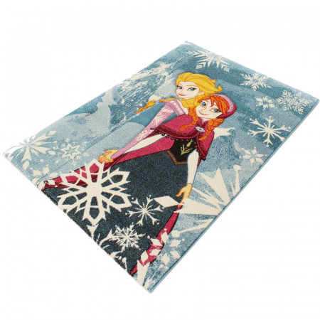 Covor camera copii Premium, Disney Frozen Anna si Elsa, 133x190 cm, Antiderapant0
