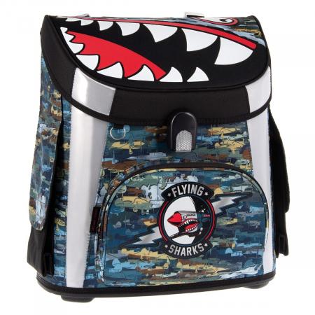 Ghiozdan Ergonomic scoala, Copii Flying Sharks, Arsuna, 45 cm0