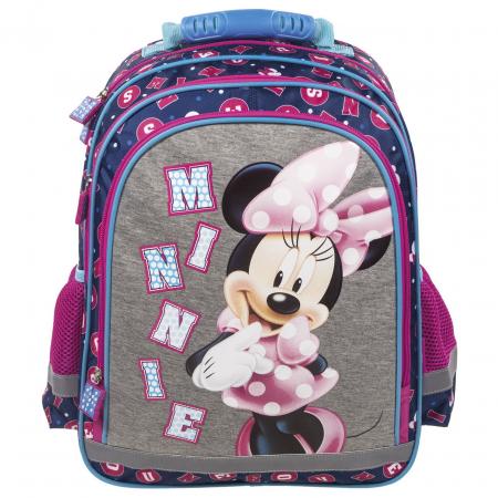 Ghiozdan scoala copii, Fete, Disney MINNIE MOUSE, 38 cm1