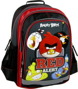 Ghiozdan scoala copii, Red Alert ANGRY BIRDS, 39 cm0