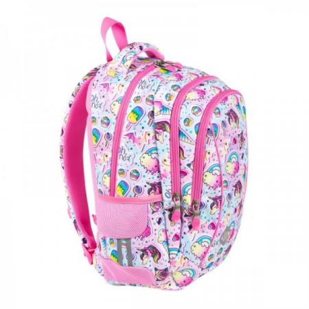 Ghiozdan scoala copii Sweet Pink, Majewski, roz1