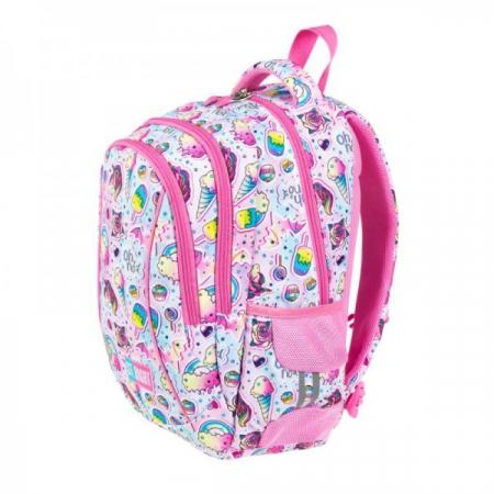 Ghiozdan scoala copii Sweet Pink, Majewski, roz3