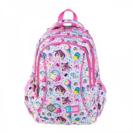 Ghiozdan scoala copii Sweet Pink, Majewski, roz0
