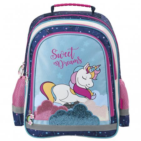 Ghiozdan scoala copii - fete, Unicorn, 38cm [0]