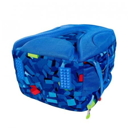 Ghiozdan scoala, pentru copii, 3D Blocks, Majewski,5