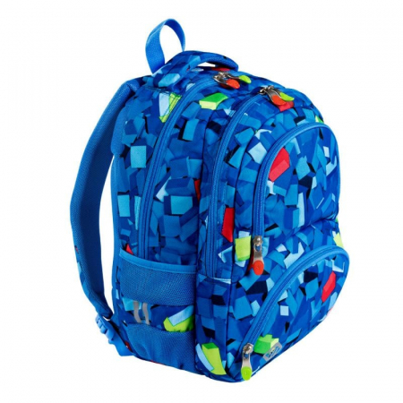 Ghiozdan scoala, pentru copii, 3D Blocks, Majewski,6