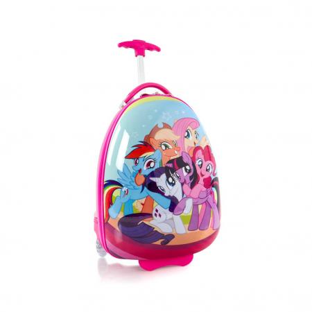 Troler calatorie ABS Copii - Fete, Ponei, Roz, 46 cm0