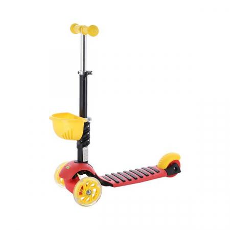 Scooter cu 3 roti Nils Fun 4in1, Abisal, galben/rosu2