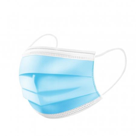 Masca chirurgicala medicala cu elastic, 3 straturi, 50buc/cutie0