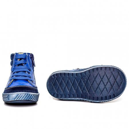 Pantofi primii pasi din piele Kid blu4