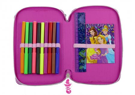 Penar scoala, echipat, dublu ( 2 compartimente), Fete, Disney Princess1