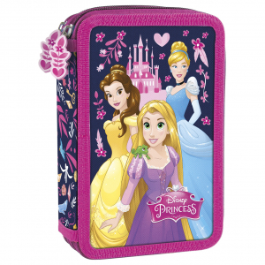 Penar scoala, echipat, dublu ( 2 compartimente), Fete, Disney Princess0