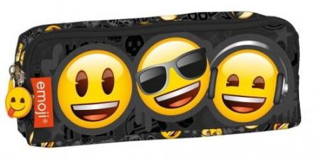 Penar scoala, neechipat, dublu (2 compartimente), Emoji, Smiley Face0