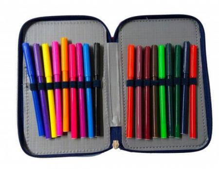 Penar scoala, echipat, triplu (3 compartimente), Fete, Disney Frozen3