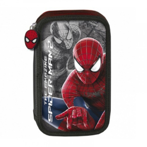 Penar scoala, echipat, dublu(2 compartimente), Baieti, Spiderman
